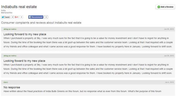 Indiabulls Real Estate HttpWwwComplaintboardInComplaints
