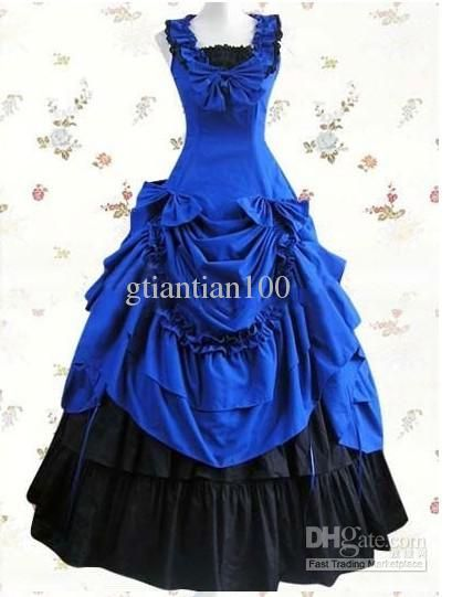 Victorian Corset Dress Gothic Civil War Southern Belle Ball Gown Lolita