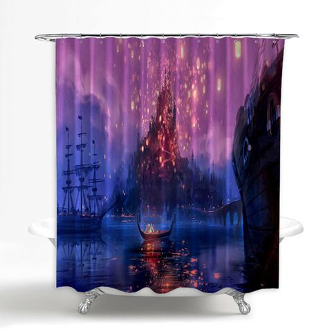 Romantic Disney Tangled The Lights Custom Shower Curtain 100
