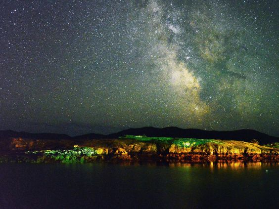 Gus Byrne caught the night sky at its best, glowing over Placentia Bay. (Submitted by Gus Byrne)