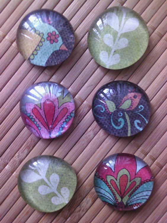 diy glass bead magnets
