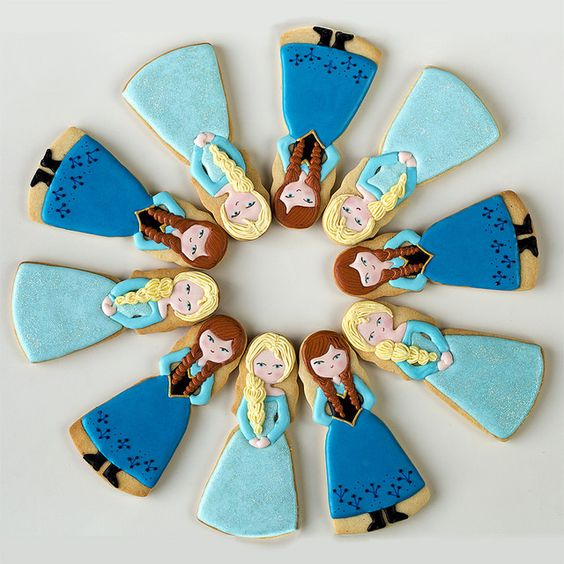 Postreadicción galletas decoradas, cupcakes y pops: Fiesta de Frozen, imprimible gratuito de Frozen:
