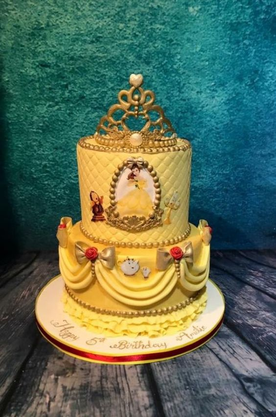 Be our guest - beauty and the beast cake by Meme's Cakes: