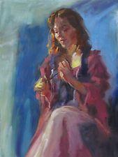 The Renaissance Maid #2 -original art oil painting by TX painter Melissa Grimes