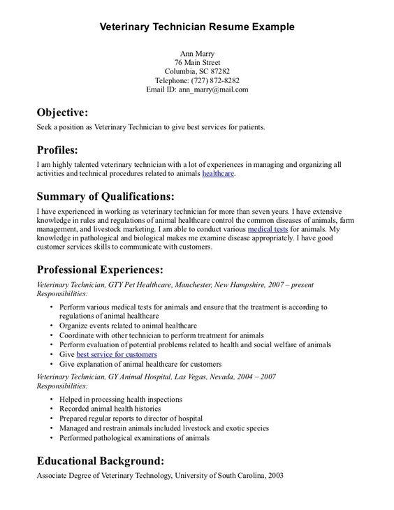 How to Prepare for a Veterinary Emergency Vet tech Pinterest - vet tech resume