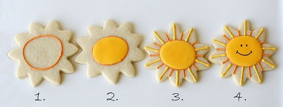 Happy Sunshine Cookies  (Cookie Decorating)