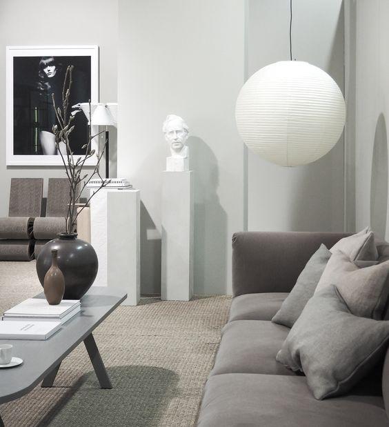 Minimalist living room, Lotta Agaton trend exhibition