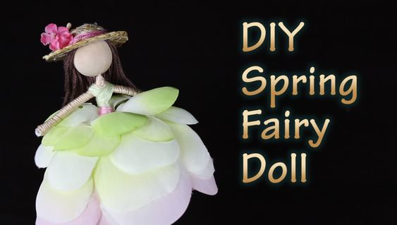 How To Make A Spring Fairy Doll With Straw Hat