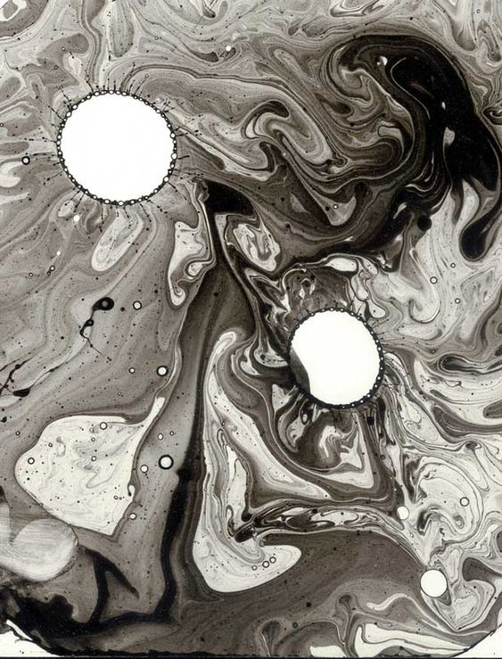 Ink Bubble Drawing by Roland Flexner #ink #drawing #artwork