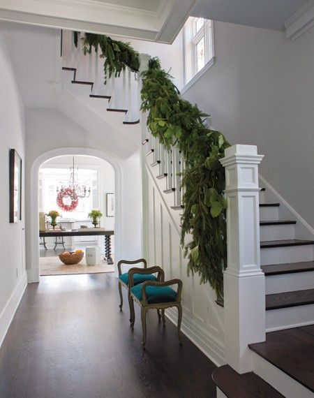 Stairs and archway.