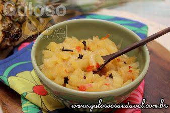 Hoje temos o delicado Doce de Abacaxi Diet que além de ser delicioso, levinho, é muito fácil de fazer.   #Receita aqui: http://www.gulosoesaudavel.com.br/2015/10/14/doce-abacaxi-diet/