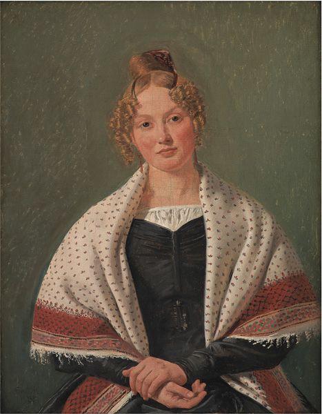 Constantin Hansen (1804-1880): Portrait of Hanne Wanscher, née Wegener, 1835: