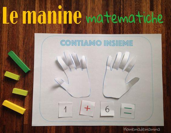 attività giochi imparare i numeri e somme usare le dita