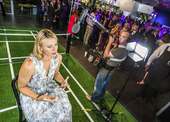 Maria Sharapova - Maria Sharapova Celebrates Women with Drive  Tennis player Maria Sharapova is interviewed for television at the 'Woman with Drive' first Birthday celebrations at Porsche Centre Melbourne on January 9, 2014 in Melbourne, Australia.