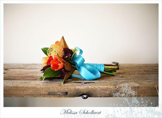 INSPIRAÇÃO: casamento laranja e turquesa   Casar é um barato
