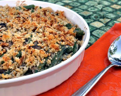 """World's Best Green Bean Casserole.""  I'll bite.  Green bean casserole is one of the few recipes made with canned ingredients that I like, so this scratch-made, fresh ingredient version sounds divine."