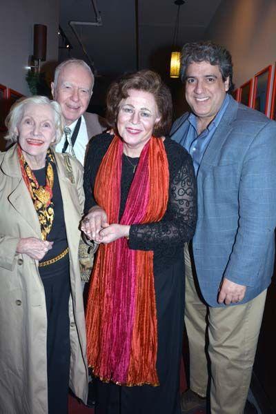Marilyn Langner and Philip Langner, Sinthea Starr and Frank Basile.  photo by:  rose billings