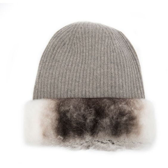 Max Mara - Fur Trimmed Beanie Hat :: Max Mara :: Brands :: Oak Hall ❤ liked on Polyvore featuring accessories, hats, maxmara, fur trimmed hat and beanie hats