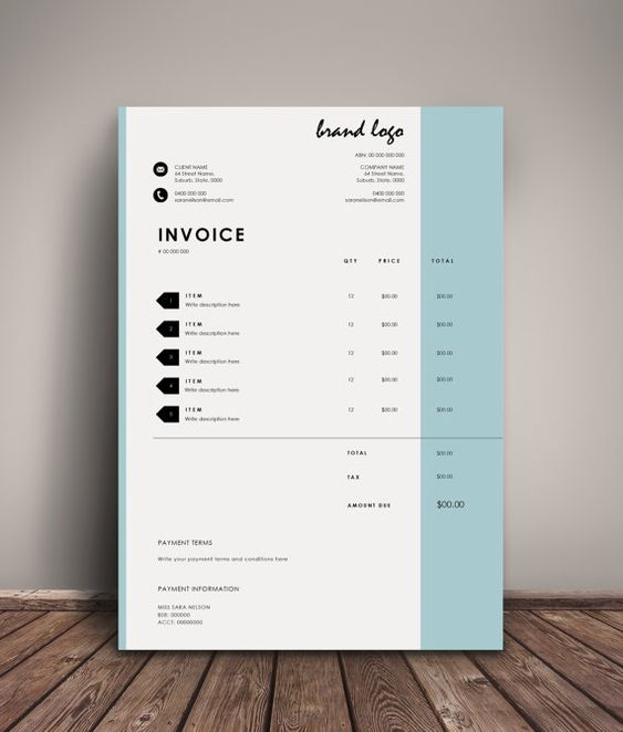 the 'nelson' invoice template | receipt | ms word receipt template, Invoice templates