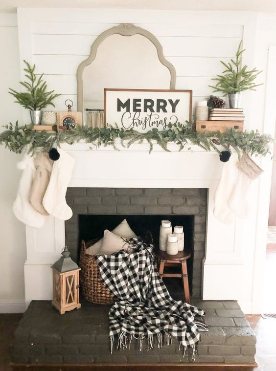 Our Christmas Family Room -Seasons of Home Tour - Beneath My Heart