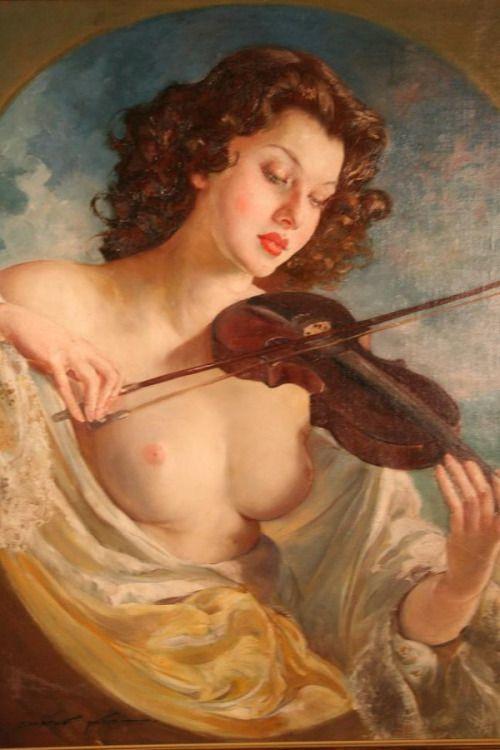 Maria Szantho hongrois, 1898-1984 beauty sensual violin: