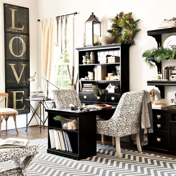 Home Office Furniture | Home Office Decor | Ballard Designs - love this!!! Will be great when I paint our study furniture and combine with gallery wall art ideas