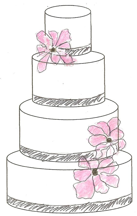 Cake Sketch Behind The Scenes Pinterest Cakes And Sketches