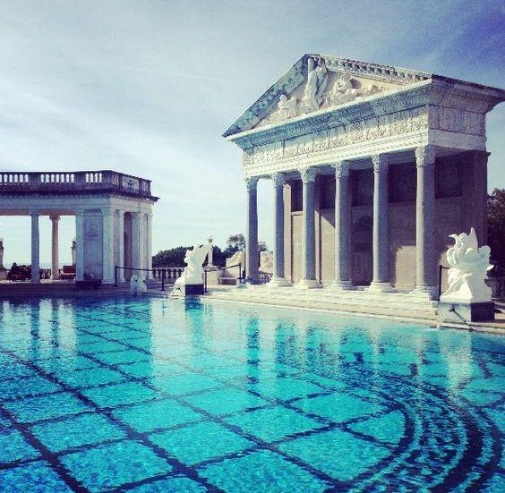 Hearst castle neptune pool hwy 1 california places i - Hearst castle neptune pool swim auction ...