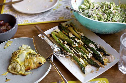 ... Asparagus with Smoky Lemon Yogurt, Chopped Eggs, and Toasted Almonds