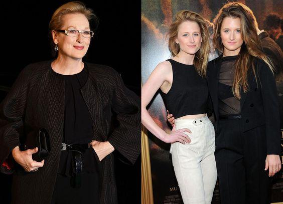 Meryl Streep et ses filles Mamie  Mamie (à gauche) et Grace Gummer (à droite) sont opérationnelles pour un remake de Sur la route de Madison.