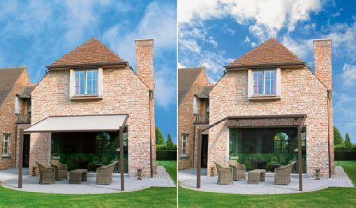 Homeplaza - Neue, designstarke Überdachung schützt effektiv vor jedem Wetter - Die Terrasse das ganze Jahr über genießen