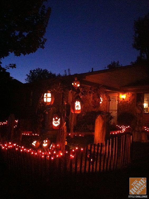 Halloween décorations de jardin de bricolage de l'ombre agricole: citrouille Lanternes