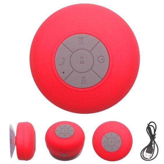 Mini Hands-Free Suction Waterproof Wireless Bluetooth Speaker