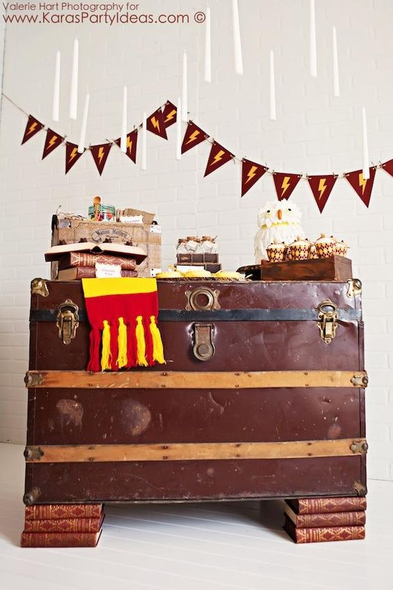 Harry potter themed birthday parties and party ideas on for Decoration harry potter
