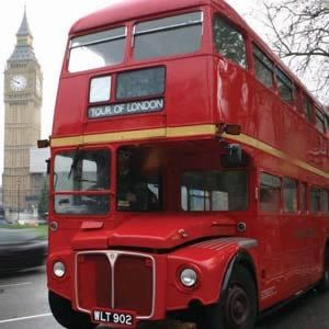Red London Bus Tour See the highlights of London onboard a vintage Red Double Decker Bus: