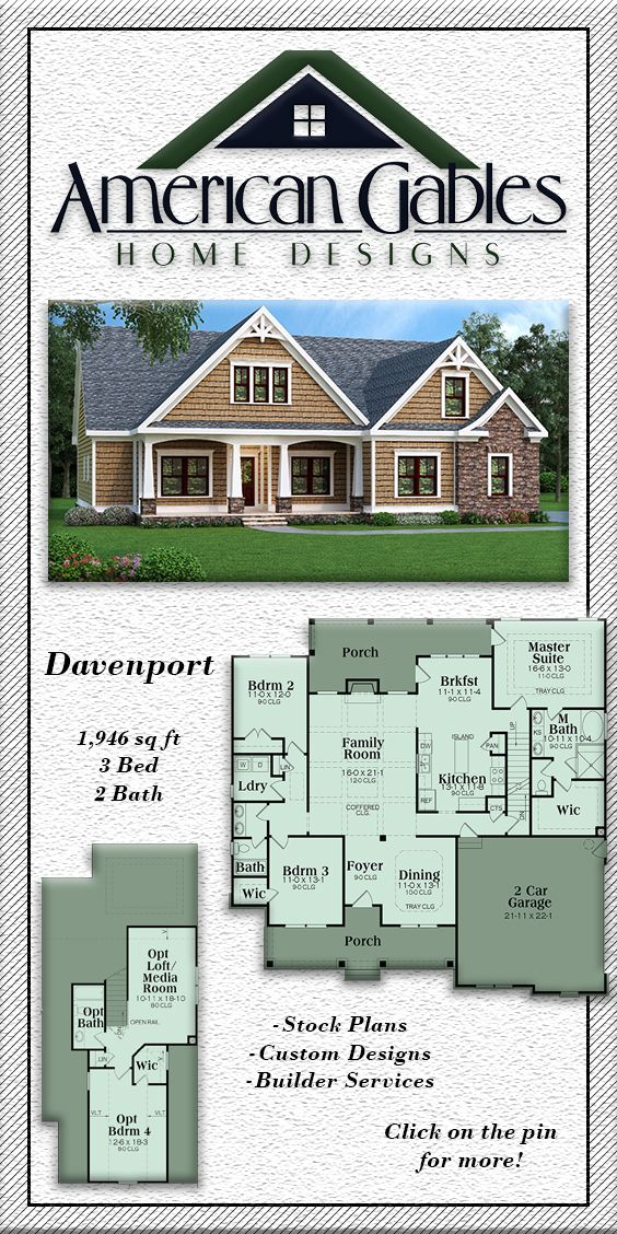 Davenport Craftsman House Craftsman House Plan Selling House