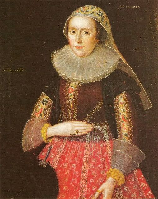 """Dame Mary Wooley"" attributed to an unknown English artist (1625)"