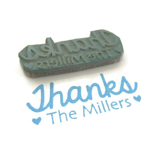 Custom Thanks from Your Family Stamp Rubber Stamp by creatiate