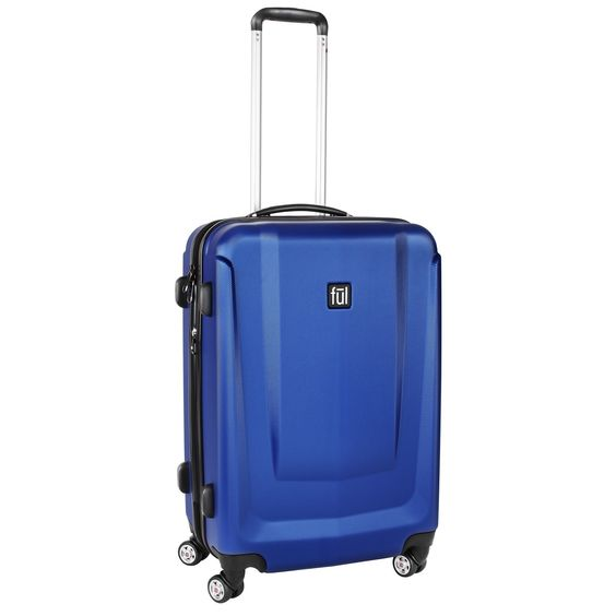 Ful Load Rider 20-inch Cobalt Expandable Carry-on Hardside Spinner Suitcase