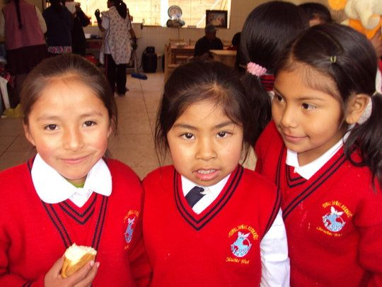 Educate a Girl in Cusco = Economic Family Survival $25 will provide hot meals and transportation to school for one month