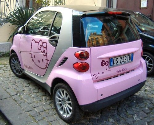 Hello Kitty Car!....If Maddie still likes Hello Kitty when she is 16....and if we win the lottery....and if she can actually drive when she is 16 and the age hasn't been changed to 20