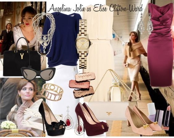 """Angelina Jolie as Elise Clifton-Ward"" by enjoyjessica on Polyvore"