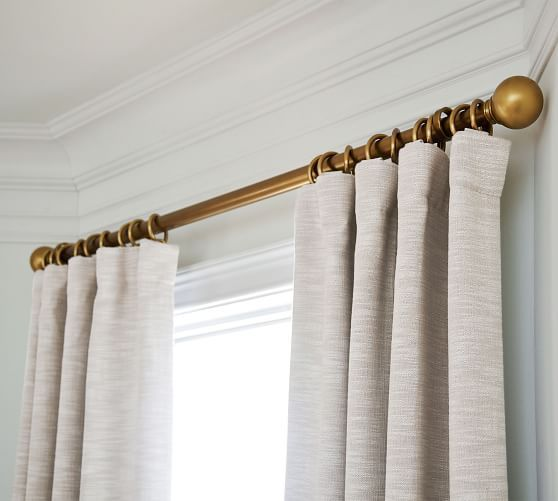 Seaton Textured Cotton Rod Pocket Blackout Curtain Charcoal Pottery Barn Blackout Curtains In 2020 Neutral Curtains Curtain Texture Master Bedroom Curtains