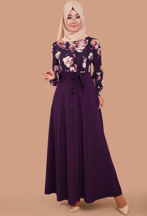 Modaselvim Cicekli Tesettur Elbise Modelleri Harika Model Fashion Muslim Fashion Clothes For Women