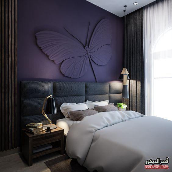 دهانات غرف نوم الوان الحوائط الحديثة Modern Bedroom Paints قصر الديكور Bedroom Wall Designs Luxurious Bedrooms Bedroom Interior