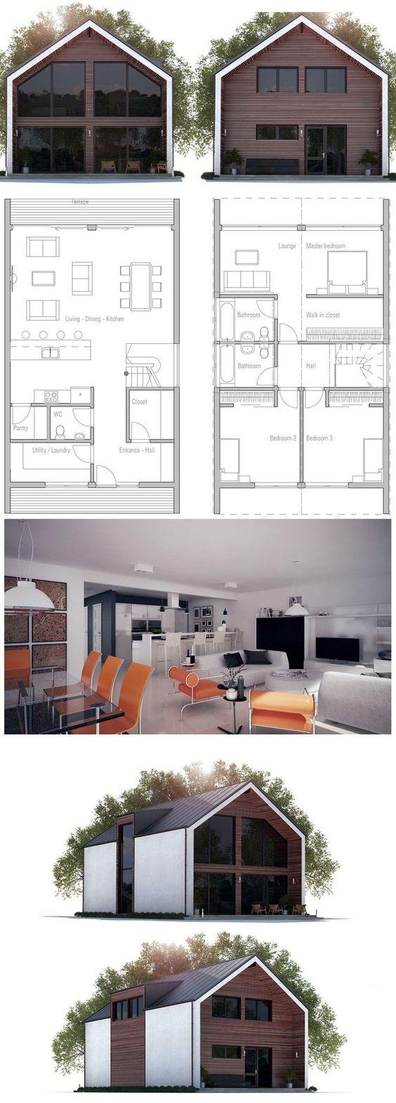 Narrow house plan ch275 from narrow for Concept home com