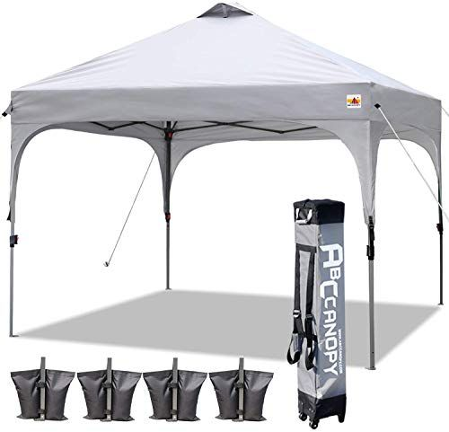 Enjoy Exclusive For Abccanopy Canopy Tent 10x10 Pop Up Canopy Outdoor Canopies Portable Tent Popup Beach Canopy Shade Canopy Tent Wheeled Carry Bag Bonus 4 Wei In 2020 Canopy Outdoor Beach