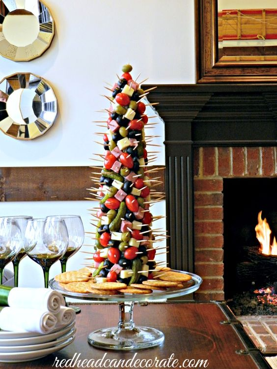 """We had a small Christmas party last Saturday with some wonderful, dear friends of ours. I knew it would be the perfect opportunity to make another """"Appetizer Tree"""". I had originally tried it for Thanksgiving. That one was a huge success, so this one was a no brainer.  Appetizer Trees are a great conversation …"""