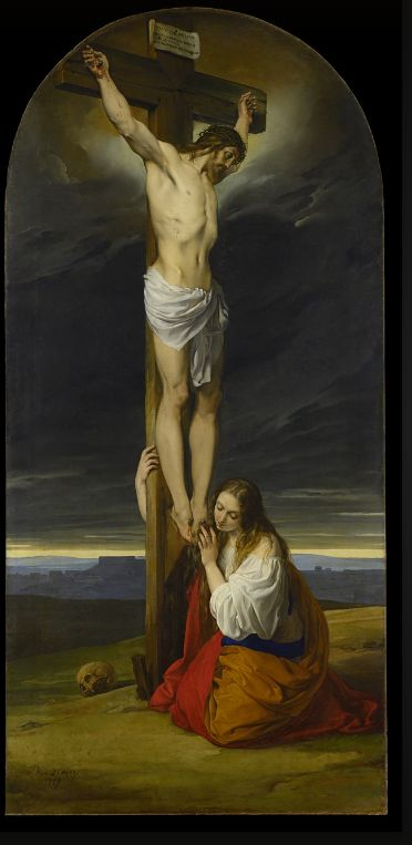 Francesco Hayez, Crucifixion with Mary Magdalene Kneeling and Weeping, 1827 | Museo Diocesano Milano: