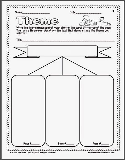 Main Idea Worksheets Anchors Away Teaching Themes School Worksheets Classroom Freebies Main idea and theme worksheets